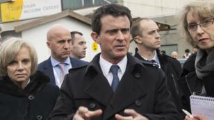 Manuel Valls en visite à Munich, le 13 février 2016.