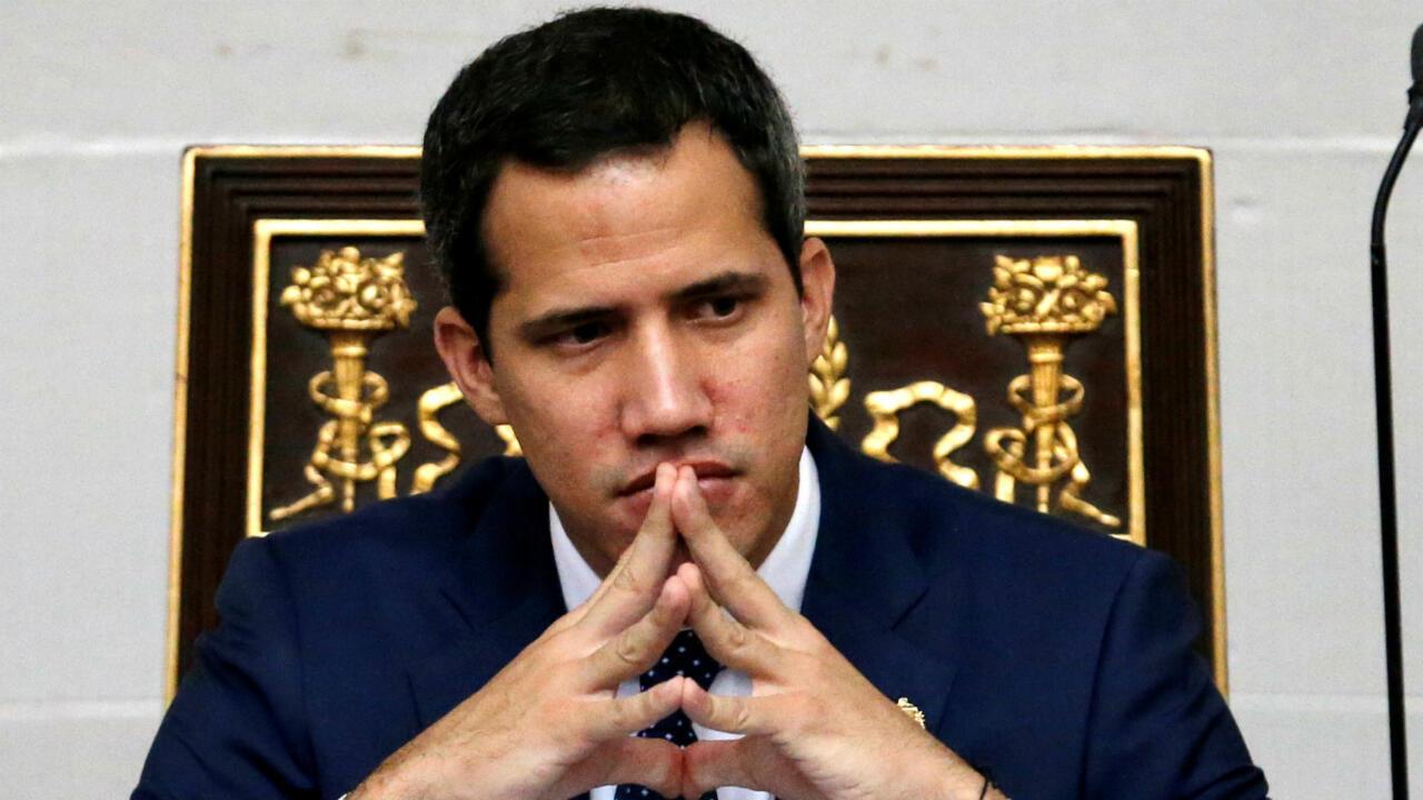 Archivo-El líder opositor Juan Guaidó, presidente del Parlamento venezolano, durante una sesión de la Asamblea Nacional, en Caracas, Venezuela, el 20 de agosto de 2019.