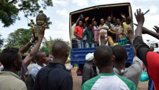 Libération de détenus de la prison centrale Mpimba, à Bujumbura, le lundi 23 janvier.