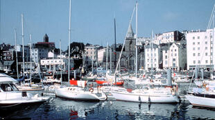 Saint Peter Port, capitale de l'une des îles anglo-normandes Guernesey.