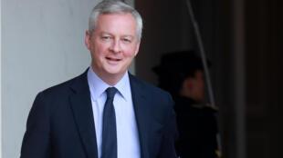 Le ministre de l'Economie Bruno Le Maire après le conseil des ministres à l'Elysée le 15 juillet 2020