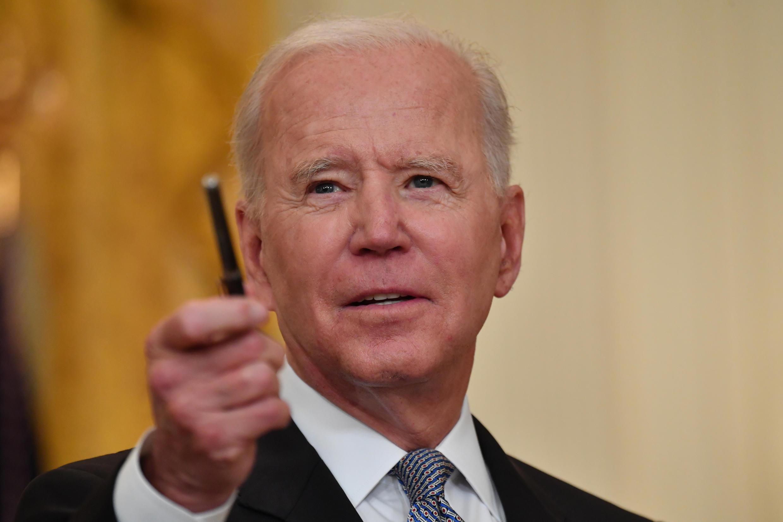 Le président américain Joe Biden s'exprime depuis la Maison Blanche le 17 mai 2021