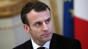 Emmanuel Macron à l'Élysée, le 10 décembre 2018.