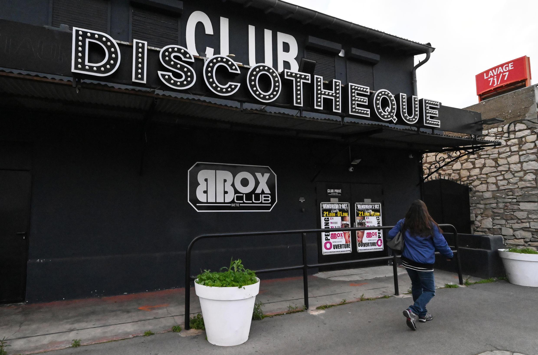 Une discothèque à Sète, fermée en raison des restrictions sanitaires, le 24 novembre 2020
