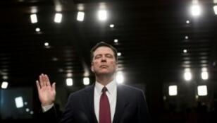 L'ancien directeur du FBI, James Comey, pendant son témoignage devant la commission du Renseignement du Sénat, le 8 juin 2017.