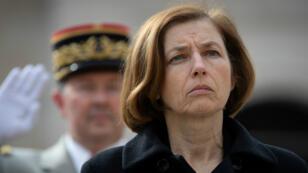 La ministre des Armées, Florence Parly, le 8 avril 2019, aux Invalides, à Paris.