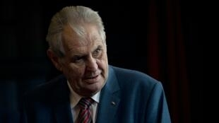 """Czech President Milos Zeman (pictured September 2018) said that the Roma minority were """"put off by work"""", sparking a social media compaign where European Roma flooded his Facebook with photos of them at work"""