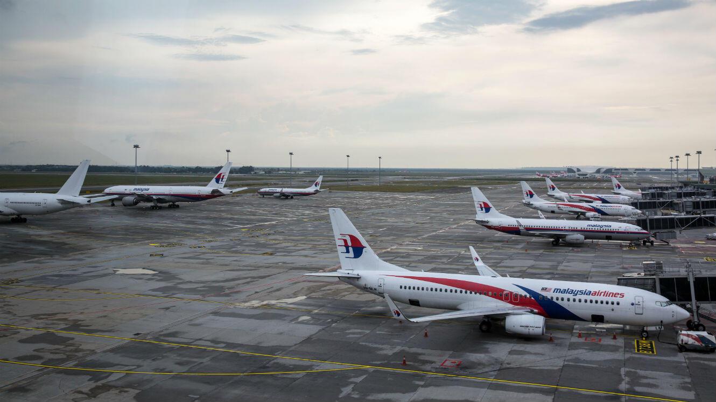 Des avions de la compagnie aérienne Malaysia Airlines.