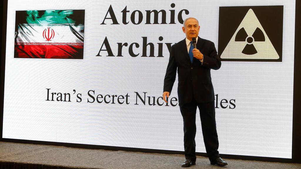 El primer ministro israelí, Benjamin Netanyahu, presentó pruebas en contra del programa nuclear que lleva adelante Irán. Abril 30 de 2018.