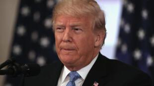 Donald Trump a tenu une conférence de presse à New York, en marge de l'Assemblée générale de l'ONU, le 26 septembre 2018