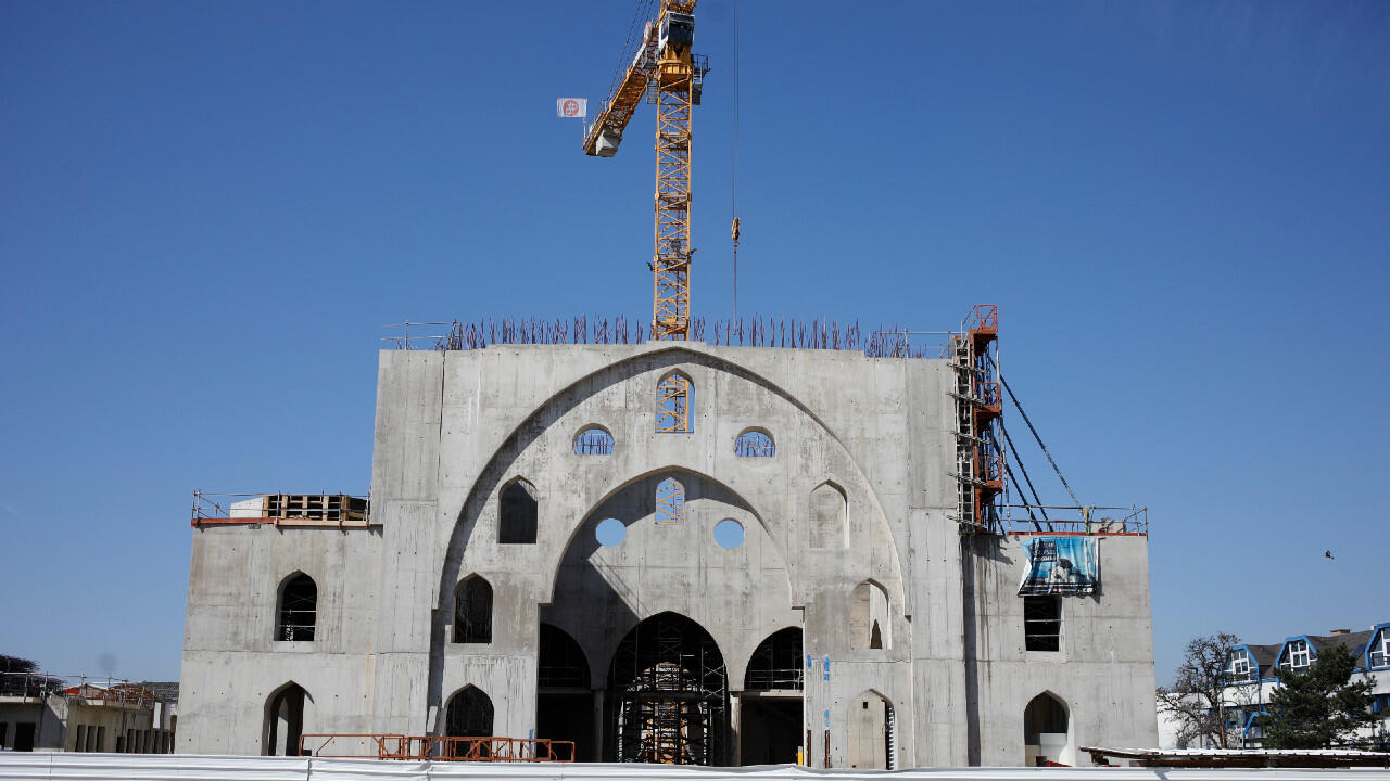 The Eyyub Sultan mosque under construction is pictured in Strasbourg, Eastern France, Wednesday, March 24, 2021.
