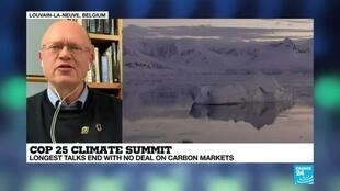 2019-12-16 21:12 COP 25 Climate Summit : longest talks end with no deal on carbon markets