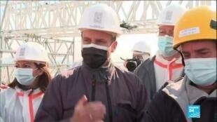 2021-04-15 16:11 Incendie de Notre-Dame : Emmanuel Macron en visite sur le chantier de reconstruction