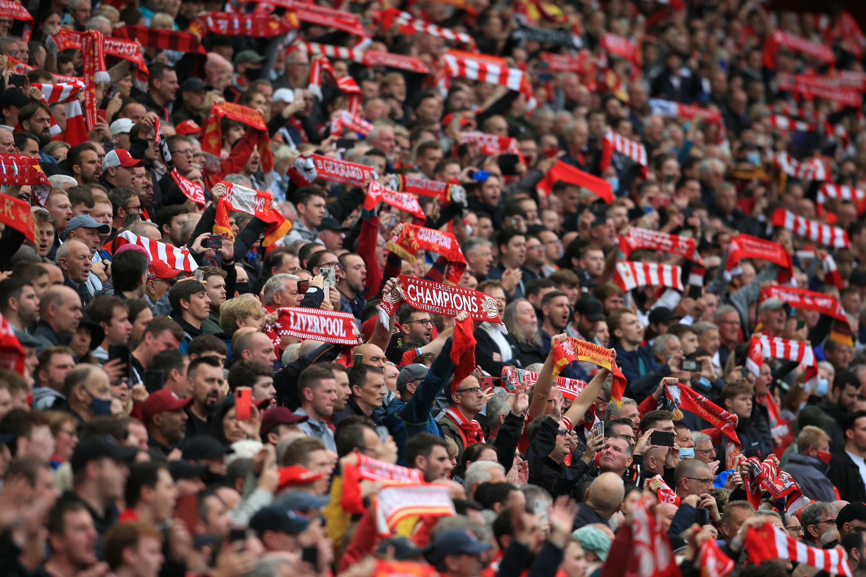 Anfield était à pleine capacité pour participer à un match de compétition pour la première fois depuis mars 2020