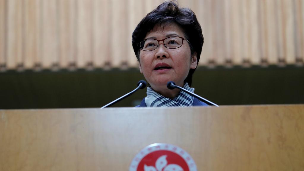 La jefa de Gobierno de Hong Kong, Carrie Lam, hizo una declaración pública para condenar la violencia que tuvo lugar durante la jornada de huelga.