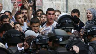 مواجهات بين الشرطة الإسرائيلية وفلسطينيين 13 سبتمبر/أيلول 2015