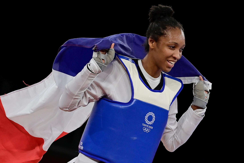 Althéa Laurin médaillée de bronze chez les +67 kg aux Jeux de Tokyo, le 27 juillet 2021