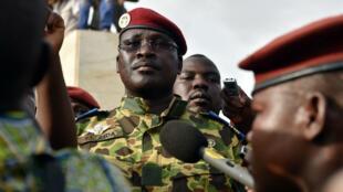 Le lieutenant-colonel Isaac Yacouba Zida, le 31 octobre 2014 à Ouagadougou