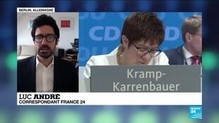 2020-02-10 12:01 Allemagne : Pourquoi la dauphine de Merkel, A. Kramp-Karrenbauer renonce à la chancellerie ?