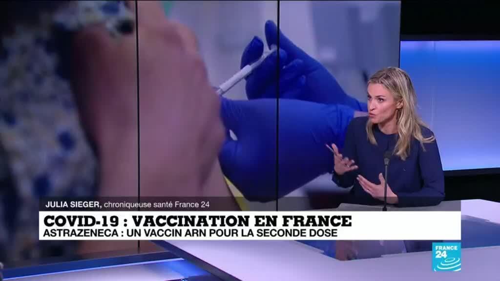 2021-04-09 13:07 AstraZeneca en France :  un vaccin ARN pour la seconde dose