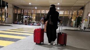 Une Saoudienne à l'aéroport de Dammam, le 5 août 2019.