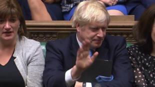 Boris Johnson, le lundi9septembre2019 au Parlement britannique.