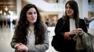 Marie Laguerre et son avocate au TGI jeudi 4 octobre.