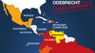 Odebrecht a avoué avoir payé des pots-de-vin dans une douzaine de pays d'Amérique.