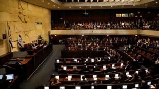 الرئيس الإسرائيلي رؤوفين ريفلين خلال افتتاحه الدورة 22 للكنيست الإسرائيلي في القدس. 3 أكتوبر/ تشرين الأول 2019.
