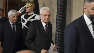 الرئيس الإيطالي سيرجيو ماتاريلا.