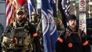 Des miliciens pro-armes à feu rassemblés à Richmond, en Virginie le 20 janvier 2019.