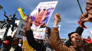 """Manifestation à Rabat, dimanche, contre """"le manque de neutralité"""" de Ban Ki-moon sur le dossier du Sahara occidental."""