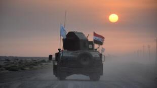 Les forces irakiennes se dirigent vers Mossoul pour reprendre la ville jusqu'à présent aux mains des jihadistes, le 10 octobre 2016.
