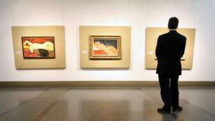 Tableaux de Modigliani pris au Musée des beaux-arts Pouchkine de Moscou.