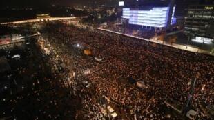 تظاهرة في سيول للمطالبة باستقالة الرئيسة الكورية الجنوبية 19 تشرين الثاني/نوفمبر 2016