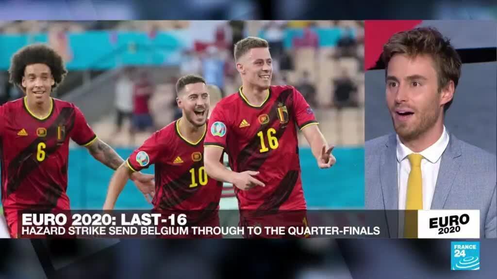 2021-06-27 23:45 Belgium knock out holders Portugal to reach Euro 2021 quarter-finals