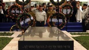 رئيس الأركان الإسرائيلي غادي أيزنكوت في إحياء الذكرى السنوية لوفاة الرئيس الإسرائيلي السابق شيمون بيريز 14 أيلول/سبتمبر 2017