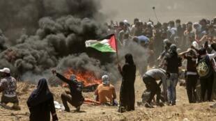 El 14 de mayo fue el día más mortífero del conflicto palestino-israelí desde la guerra de 2014 en el enclave bloqueado.