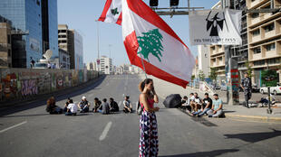 LEBANON protest roadblock