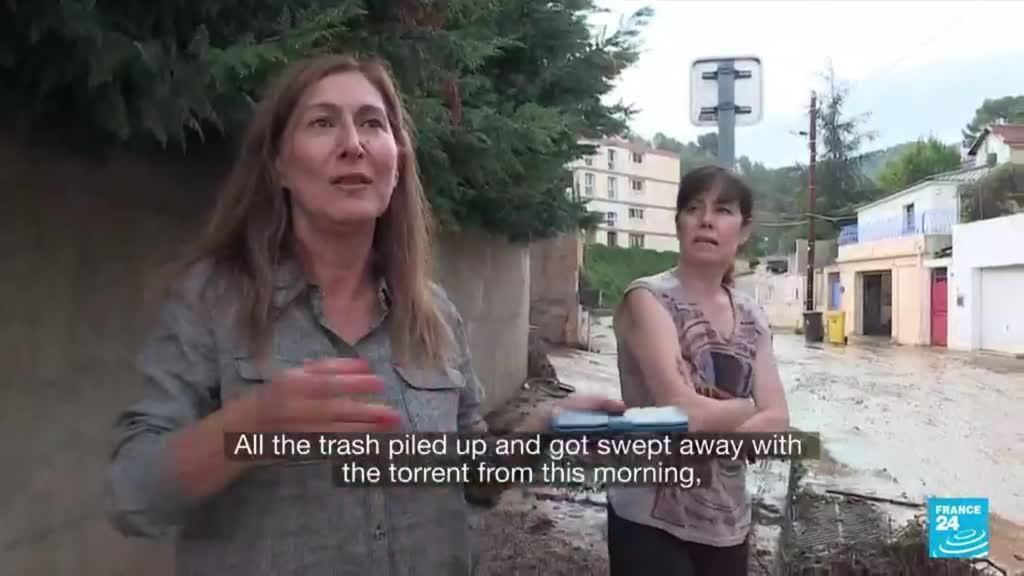 2021-10-05 08:14 France flash floods: Clean-up begins after torrential rain and floods