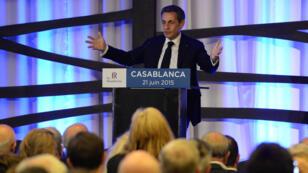 Nicolas Sarkozy a prononcé un discours dimanche 21 juin en ouverture d'une réunion de la section locale des Républicains à Casablanca.
