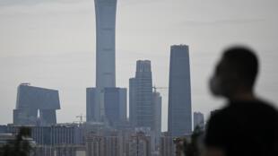 AEl distrito financiero de Pekín, en China, el 23 de mayo de 2020