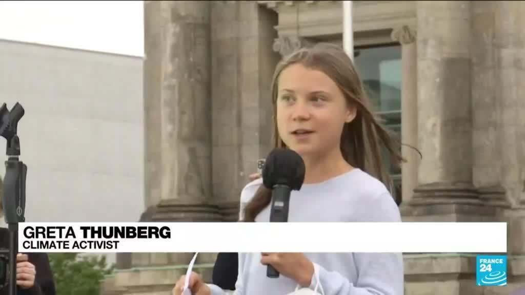 2021-09-24 16:04 Thunberg rallies climate activists for German vote 'of a century'