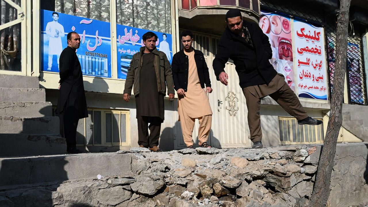 Kabul Afghanistan rocket barrage