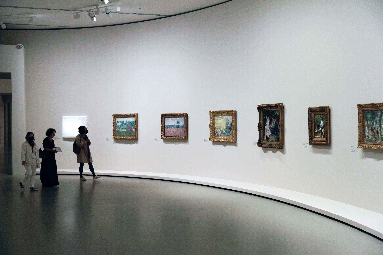 Exposition de la collection Morozov, à la fondation Louis Vuitton à Paris le 15 septembre 2021