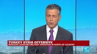 2019-10-09 18:06 FRANCE 24 SPECIAL: Syrian Kurds fear the worst as Turkey launches offensive