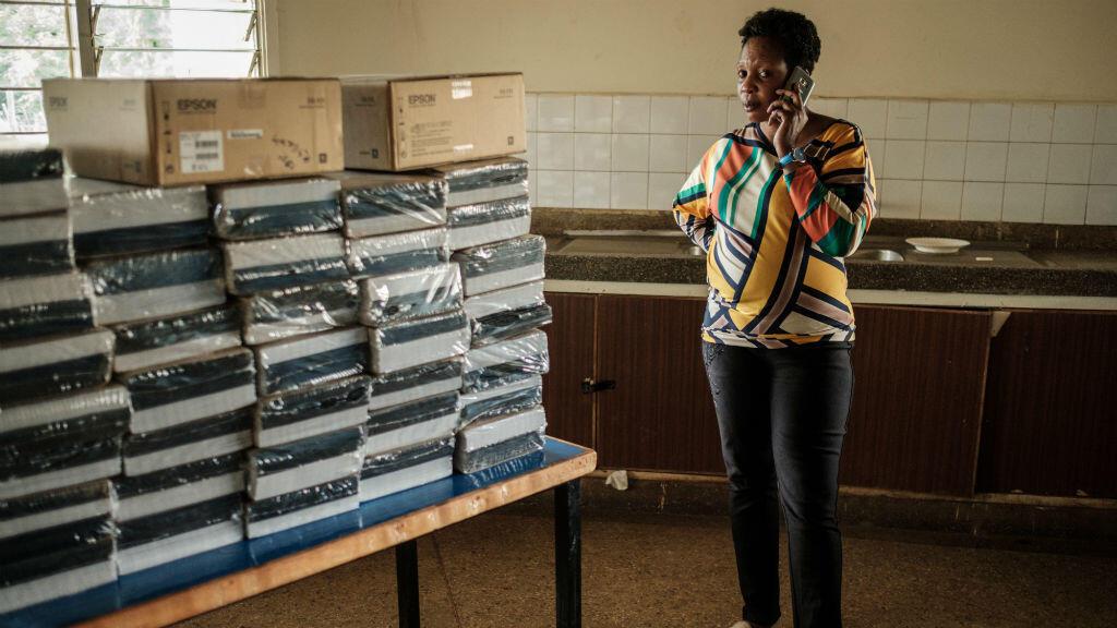 Cette école de Kisumu au Kenya a bien reçu le matériel électoral pour l'élection présidentielle du 26 octobre.