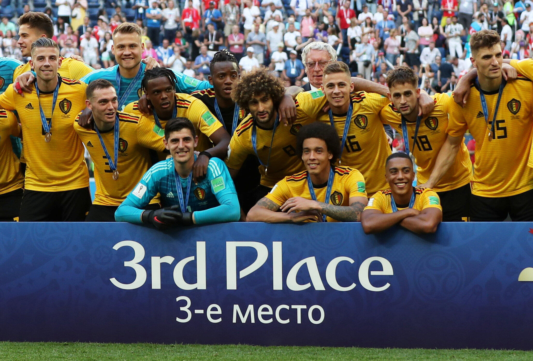 La selección de Bélgica le ganó a Inglaterra y se quedó con el tercer lugar en el Mundial 2018.
