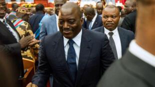 Le président congolais Joseph Kabila, le 15 novembre 2016, au Parlement de Kinshasa.