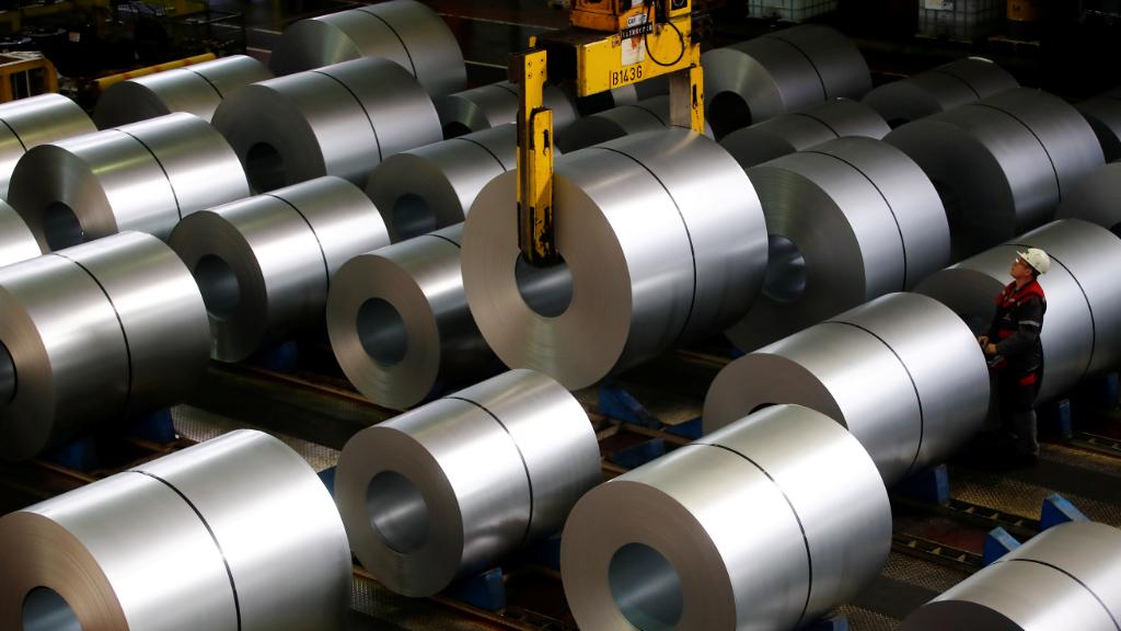 Imagen de una factoría de acero en Duisburg, Alemania.